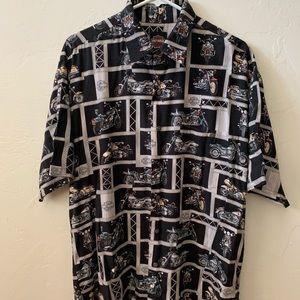 Harley Davidson Button Down Dress Shirt - Large